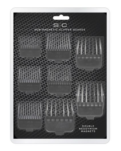 Pack of 8 Barber & Hairstylist Universal Magnetic DUB Clipper Guards
