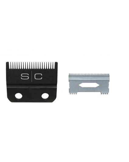 Clipper Blade with DLC Fixed Blade and Steel Shallow Tooth Cutter