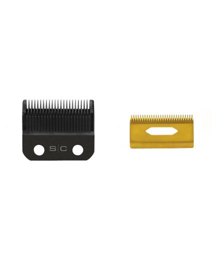Alpha Clipper Blade with Black Diamond Fixed Blade and Gold Titanium Cutter